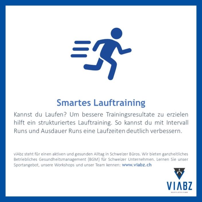 Smartes Lauftraining